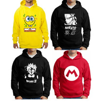 Moletom Naruto Bleach Bob Esponja Dragon Ball Z Mario Luigi