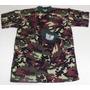 Camiseta Em Malha 100% Algodão,camuflada, Tamanho M