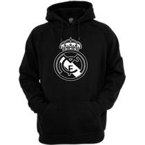 Moletom Real Madrid - Passeio - Personalizado Capuz Canguru