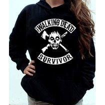Blusa Moletom The Walking Dead - Survivor Canguru Com Capuz