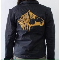 Jaqueta Feminina Impermeável Bordada Cavalo Crioulo Colete