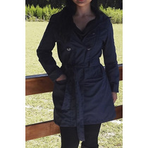 Casaco Trench Coat Com Cinto - Tam P A Gg
