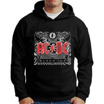 Blusa Moletom Bandas De Rock Acdc Black Ice Rock Ac Dc Banda
