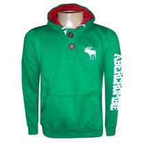 Blusa De Moletom Abercrombie Verde Ref Afj Original
