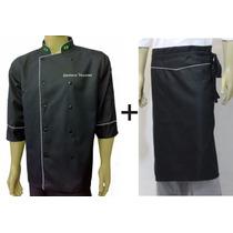 Dolma Preta+avental Chef Gastronomia, Cozinheiro