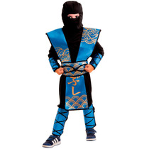Fantasia Ninja Azul Infantil Multbrink