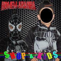 Blusa Casaco Moleton Agasalho Com Mascara - Homem Aranha Pt