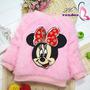 Blusa Infantil Frio Minnie Importado Pronta Entrega