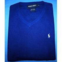 Colete Blusa Ralph Lauren Azul 100% Algodao Tam. M