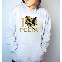 Jogos Vorazes I Love Peeta Moletom Canguru Com Capuz Blusa