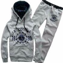 Conjunto Blusa + Calça Moleton Ln College