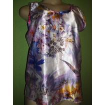 Blusa Cetim De Seda Estampa Floral 42