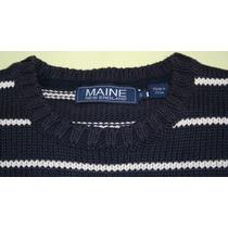 Sueter Blusa Marca Inglesa Maine New England Algodao Tam. P