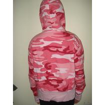 Blusão Canguru Feminino Camuflado Rosa Apeluciado Novo