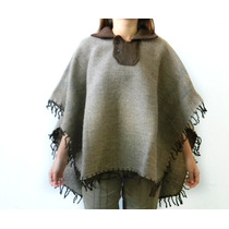 P01 Pala Artesanal Feito Em Lã De Ovelha Poncho Rodeio