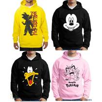 Blusa Moletom Desenho Anime Naruto Mickey Bobesponja Pokemon