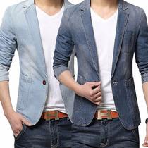 Blazer Jeans Masculino Slim Fit Moda Londrina Luxuoso Top