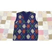 Colete De Lã Masculino Frente Escocesa