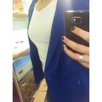 Blazer Terninho Casaquinho Casaco Feminino Azul