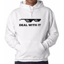 Thug Life Deal With It Blusa Moletom Canguru Com Capuz