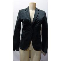 Blazer Feminino Socia Veludo Camurça Marca Zara Basic Tm/ P