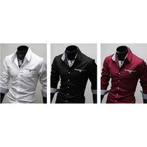 Camisa Social Slim Fit - Importado - Frete Grátis!