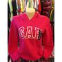 Blusa Moleton Gap Fem Tam Pp Cor Rosa Pink Pront Entr #711