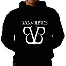 Blusa Moletom Black Veil Bvb Capuz Bolso Banda Frio Moleton
