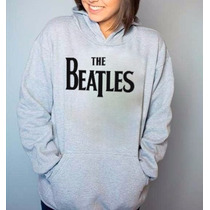 Blusa Moletom The Beatles Canguru Com Capuz