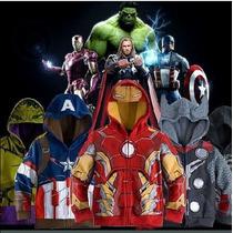 Blusa Moletom Infantil Vingadores Homem De Ferro Hulk Menino