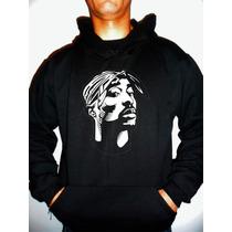 Moletom Tupac - 2pac - Rosto Rap - Hip Hop - Blusa Canguru