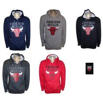 Blusa De Moletom Chicago Bulls C Capuz + Frete Gratis