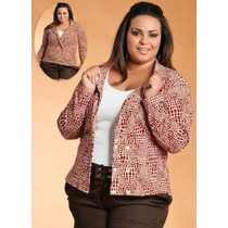 Blazer Plus Size Estampado - Roupa Blusa G Gg Xxg Xlg