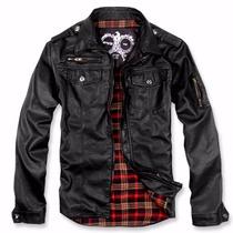 Top Jacket - Jaqueta De Couro Pu - Produto Importado