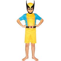 Fantasia Wolverine Infantil Curta Rubies Sem Máscara