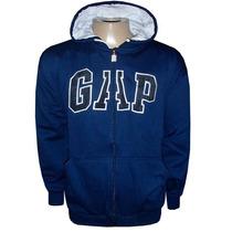 Blusa Moletom Gap Azul Marinho Com Zíper