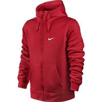 Jaqueta Nike Masculino Club Fz Hoody - Swoosh Original Verm