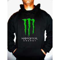 Moletom Monster Capuz Canguru Blusa