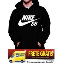 Blusa Moletom Nike Sb Capuz Bolso Camisa Frio Personalizada