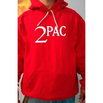 Moletom Tupac - 2pac Vermelho - Rap - Hip Hop - Canguru
