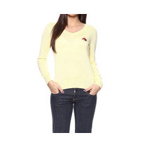 Cardigan Feminino Gola V Amarelo - Club Polo Collection