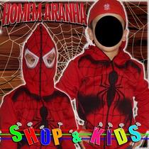 Blusa Infantil Com Mascara - Homem Aranha