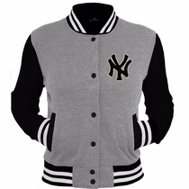Moletom Blusas College Varsity New Yankees Jaquetas