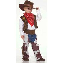 Fantasia De Cowboy Infantil Completa C/ Chapéu