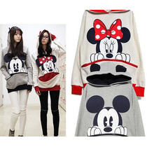 Blusa Moletom Mickey Mouse & Minine Disney 029