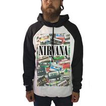 Blusa Nirvana Camiseta Regata Moletom Banda Rock Kurt Cobain