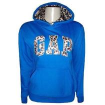 Casaco Gap Feminino De Oncinha Blusa Jaqueta Azul