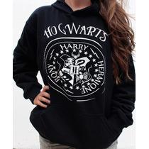 Blusa Moletom Hogwarts Harry Potter Canguru