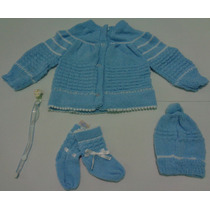 Conjunto De Lã Bebê Recém-nascido 4 Peças