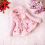 Lindo Casaco De Pele De Festa Rosa Infantil (menina)